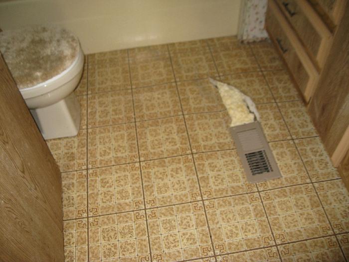 Bathroom Leaking To Floor Below : Snowbird handyman sample work page